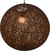 Hanglamp rond E27 55 cm bruin