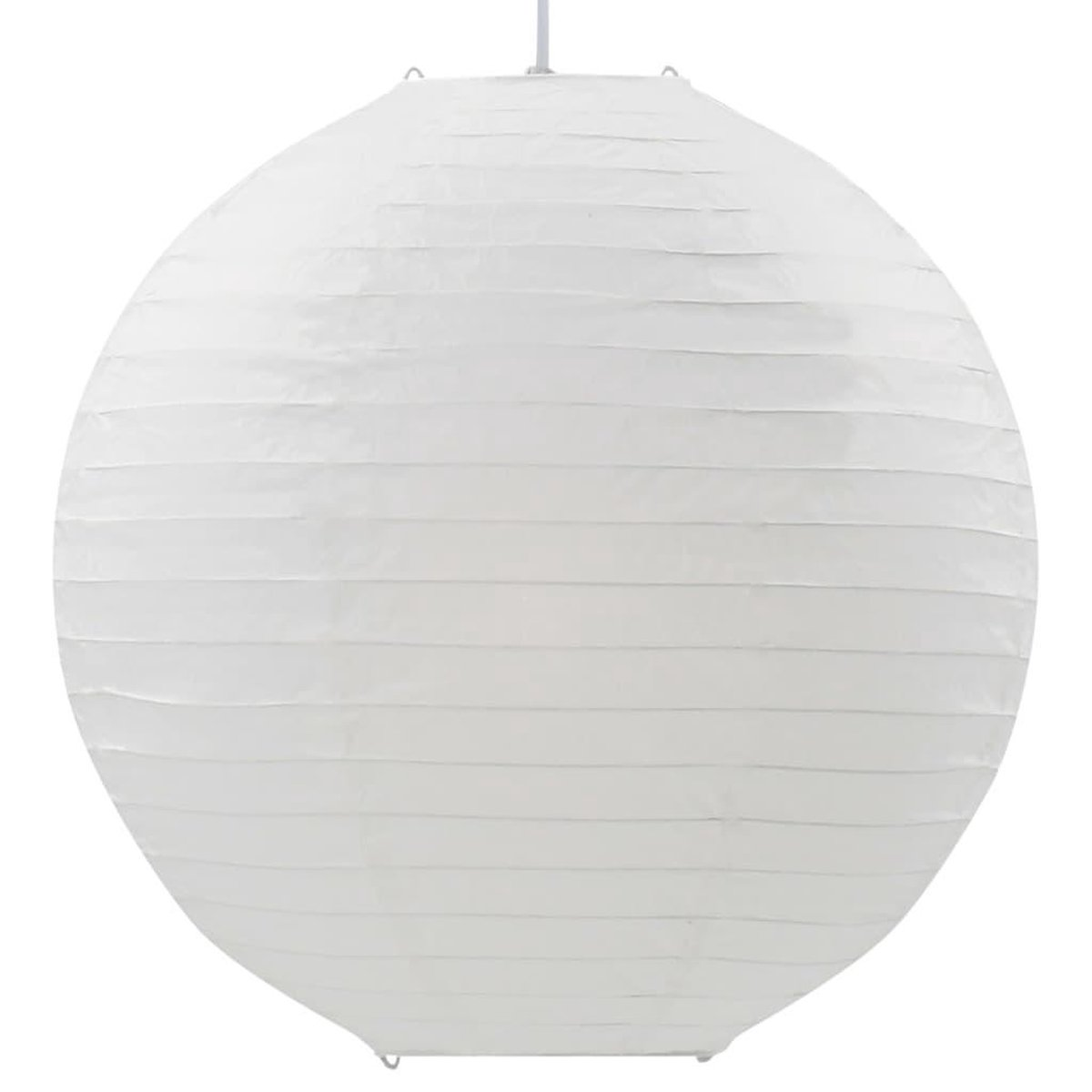 Hanglamp - Rijstpapier & Kunststof - Wit