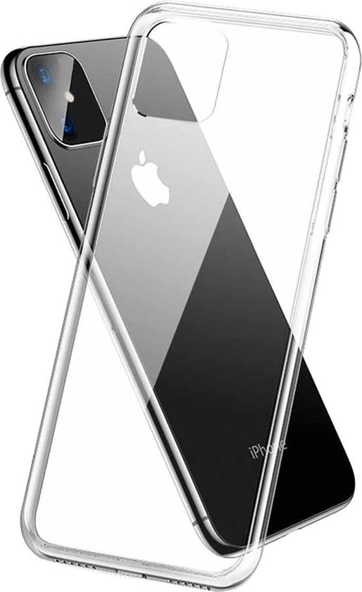 iPhone 11 Hoesje Siliconen Case Back Cover Hoes - Transparant