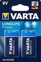 Varta Longlife Power 9 Volt Block - 6LR61 - 2 stuks