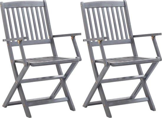 2 x Tuinstoel (Incl LW Fleece deken) Tuin stoelen Buiten stoelen Balkon stoelen Relax stoelen