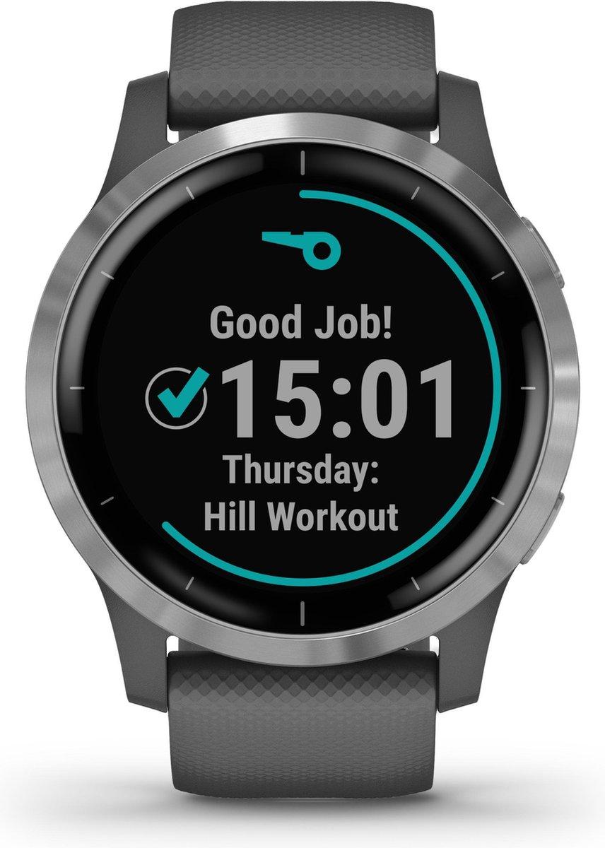Garmin Vivoactive 4 - Smartwatch - 45 mm - Donkergrijs/zilver