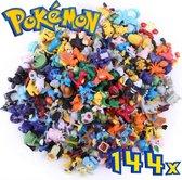 Pokémon Poppetjes - Pokémon Speelgoed - Speelfiguurtjes Pokémon - 144 unieke Pokémon Actiefiguren - Pokémon Pop Set zonder Pokémon bal - SLECHTS €0,55 per actiefiguur!