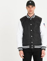 FAR EAST VARSITY JACKET NEWERA BLK - Maat XL