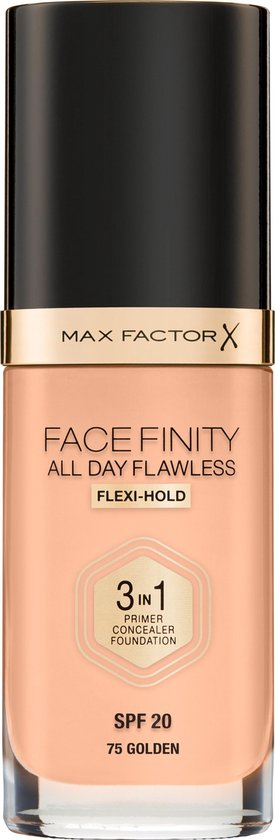 Max Factor Facefinity All Day Flawless 3-in-1 Liquid Foundation – 075 Golden
