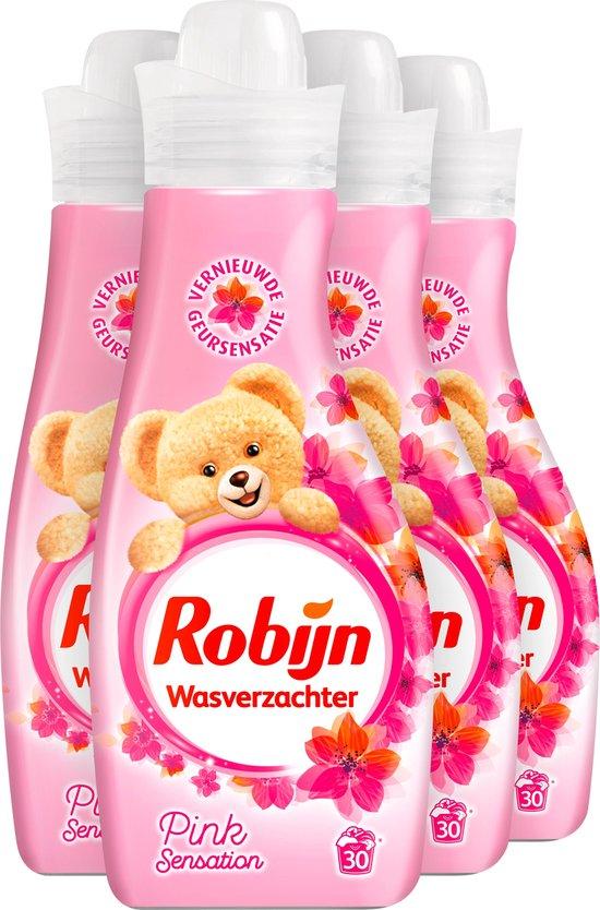Robijn Pink Sensation Vloeibaar Wasverzachter - 4 x 30 wasbeurten - Voordeelverpakking