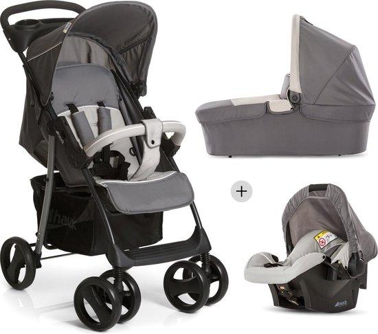 Product: Hauck Shopper SLX Trioset Kinderwagen - Stone/Grey, van het merk Hauck