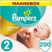 Pampers Premium Care Maat 2 - 200 Luiers Maandbox XL
