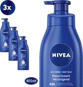 NIVEA Verzorgende Body Milk met Pomp 3x400ml