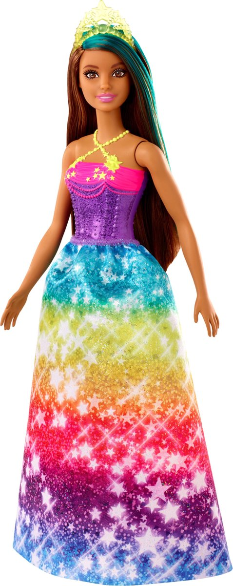 Barbie Dreamtopia Prinses Donker Haar - Barbiepop