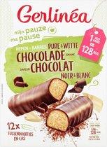 Gerlinea Mijn Pauze Maaltijdrepen - Pure & Witte Chocolade - 12 stuks