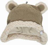 Lodger Baby muts - Hatter Botanimal - Beige - Fleece - 6-12 mnd