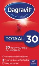 Dagravit Totaal 30 Multivitaminen Voedingssupplement - 100 tabletten
