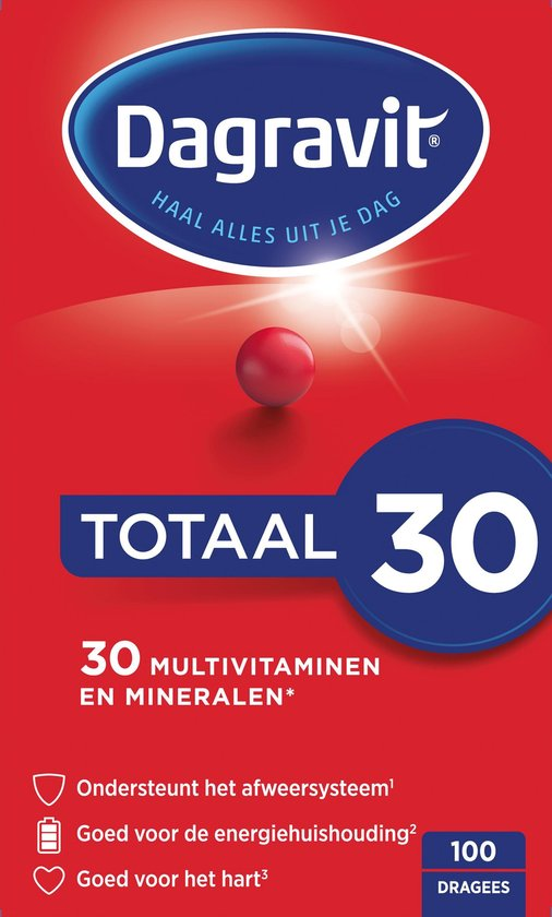 Dagravit Totaal 30 Multivitaminen Voedingssupplement - 100 tabletten