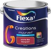 Flexa Creations - Muurverf Zijde Mat - Mengkleuren Collectie - 100% Bes  - 2,5 liter