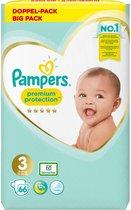 Pampers Premium Protection Luiers - Maat 3 (6-10 kg) - 66 stuks