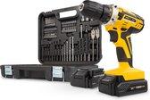 Powerplus POWX00820 Accuboormachine - 20V Li-ion - 2 accu's - incl. 74 delige gereedschapskoffer