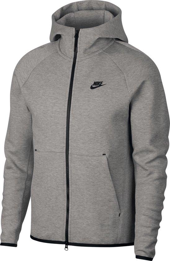Nike Nsw Tech Fleece Hoodie Fz Vest Heren - Dk Grey Heather/Black/(Black) - Maat XL