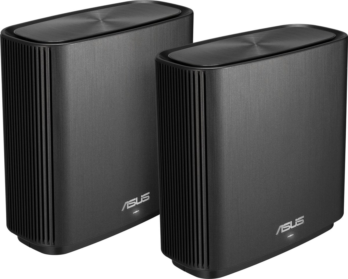 ASUS ZenWifi CT8 - Multiroom wifi systeem / Duo Pack / Router + Satelliet Zwart