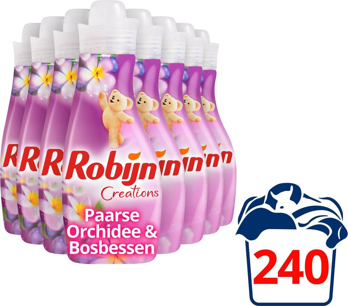 Robijn Creations Paarse Orchidee & Bosbessen Wasverzachter - 8 x 30 wasbeurten -Voordeelverpakking