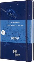 Moleskine Notitieboek Harry Potter - Large - gelineerd - Royal Blue - (13x21cm)