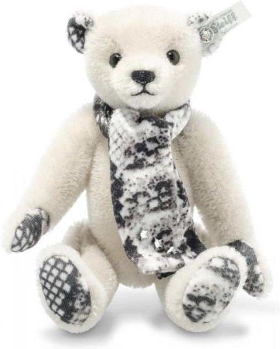 Steiff Snake Teddy bear, light grey - 15cm