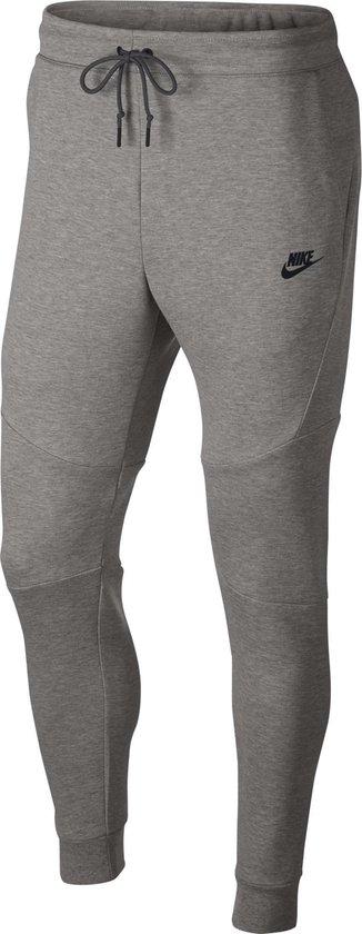 Nike Men'S Sportswear Tech Fleece Jogger Heren Sportbroek - Dk Grey Heather/Black/Black - Maat L