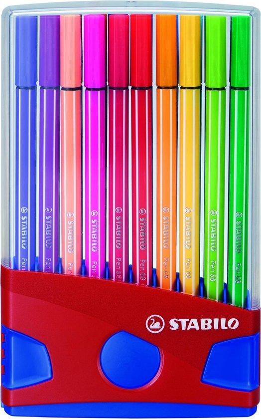 STABILO Pen 68 - Premium Viltstift - Colorparade - Set Met 20 Verschillende Kleuren