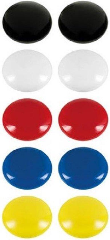 Gekleurde magneten - ø2,4 cm - 10 stuks