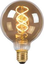 Lucide LED Bulb - Filament lamp - Ø 9,5 cm - LED Dimb. - E27 - 1x5W 2200K - Fumé