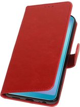 Pull Up Bookstyle voor Samsung Galaxy A6s Rood