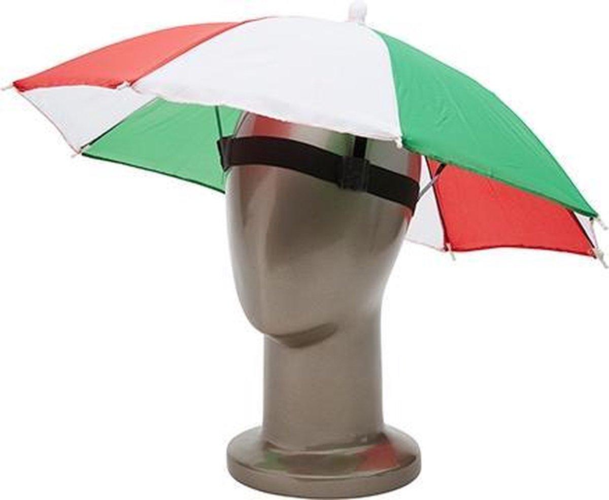 Hoofd paraplu   rood-wit-groen