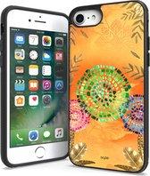 IYUPP iPhone 7 / 8 / SE Hoesje Bohemian Festival Cover Geel x Oranje