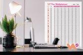 Planner 2021, Jaarplanner, Familieplanner, Kalender, Agenda, Wandkalender 140cm x 70cm