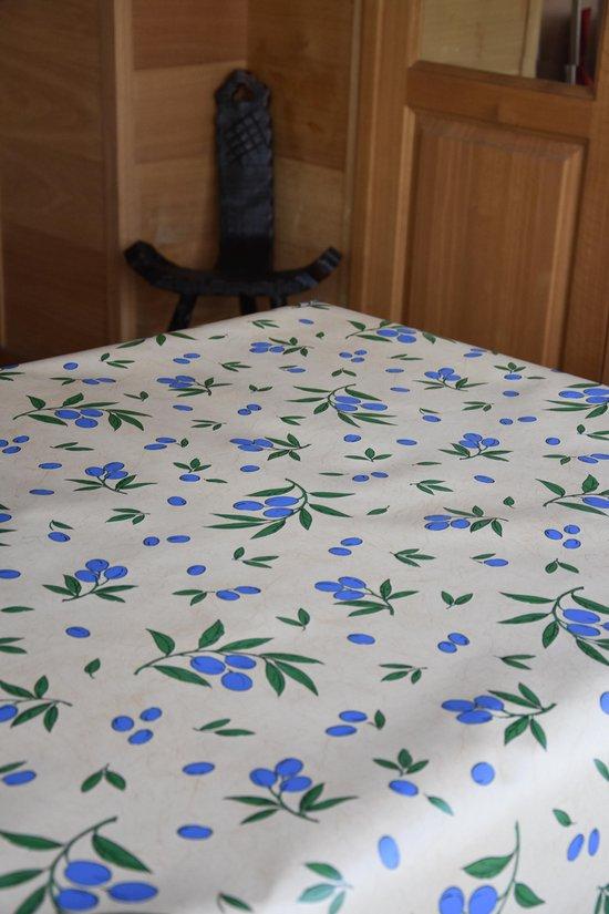 Zomerse Tafellakens - Tafelzeil - Tafelkleed - Duurzaam - Gemakkelijk in onderhoud - Opgerold op dunne rol - Geen plooien - Olijven Beige - 140cm x 160cm