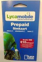 Lycamobile NL Prepaid Sim Kaart