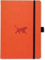 Dingbats A5+ Wildlife Orange Tiger Notebook - Dotted
