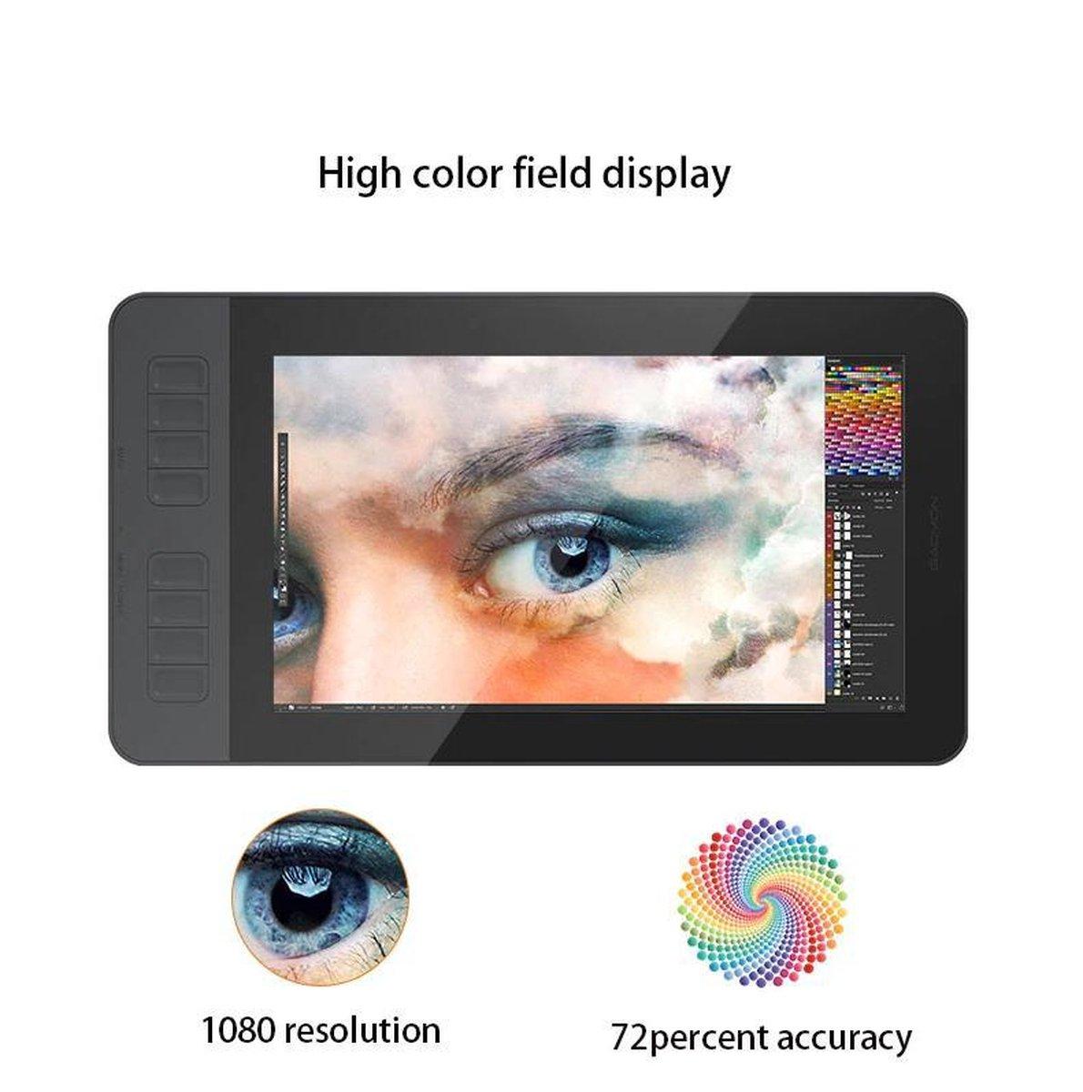 Gaomon PD1161 - Graphics Tekening Tablet Monitor met Pen Display - IPS HD - 8192 - 8 Sneltoetsen -