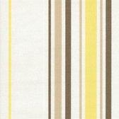 Acrisol Minerva Trigo 1201  gestreept wit geel taupe stof per meter buitenstoffen, tuinkussens, palletkussens
