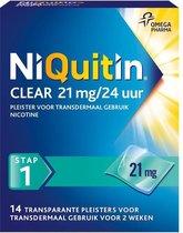 NiQuitin Clear Pleister Stap 1 - Nicotinepleisters - Stoppen met roken - 21 mg - 14 stuks