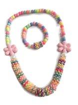 Petra's Sieradenwereld - Kindersetje (armband en ketting) gekleurd (39)