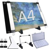 Diamond Painting LED Lightpad A4 Set - Incl. Standaard & Sorteerdoos - Lichtbak Voor Tekenen - Dimbaar