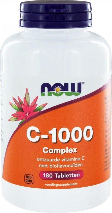 Now Foods - Vitamine C-1000 Complex (Buffered) - Met 250 mg Bioflavonoïden - 180 Tabletten