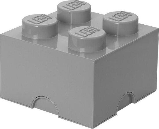 LEGO Storage Brick 4 Opbergbox - 6L - Kunststof - Grijs