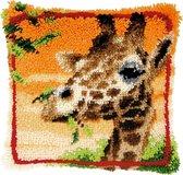 Etende giraf Knoopkussen pakket