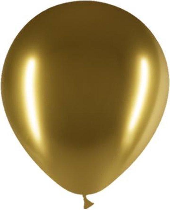 Gouden Ballonnen Chroom 30cm 10 stuks