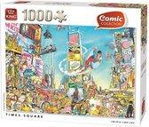 Puzzel 1000 Stukjes Comic Cartoon Time Square NY - King - Legpuzzel (68 x 49 cm)
