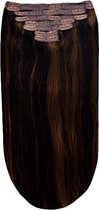 Remy Human Hair extensions Double Weft straight 15 - bruin 2/6#