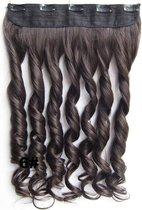 Clip in hairextensions 1 baan wavy bruin - 6#