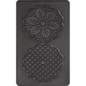 Tefal XA800712 Snack Collection - Bloemvormige wafelplaten